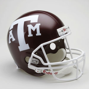 Texas A&M Full Size Replica Riddell Helmet
